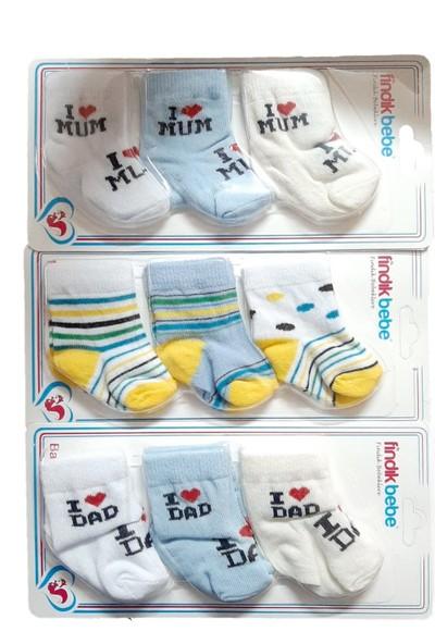 Fındık Erkek Bebek 9 Çift Çorap M1