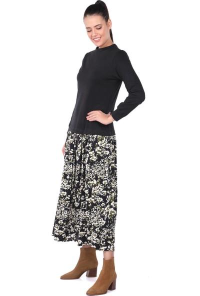 Markapia Woman Markapia Garnili Desenli Elbise