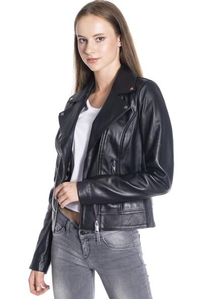 Derinss Dka2048 Kadın Hakiki Deri Mont-Ceket