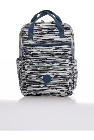Smart Bags Çok Gözlü Su Geçirmez Krinkıl Hafif Kumaş Büyük Boy Unisex Sırt Çantası 38*27*15