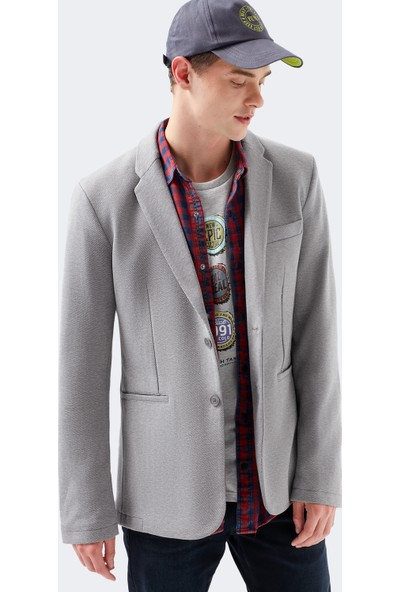 Mavi Blazer Gri Ceket