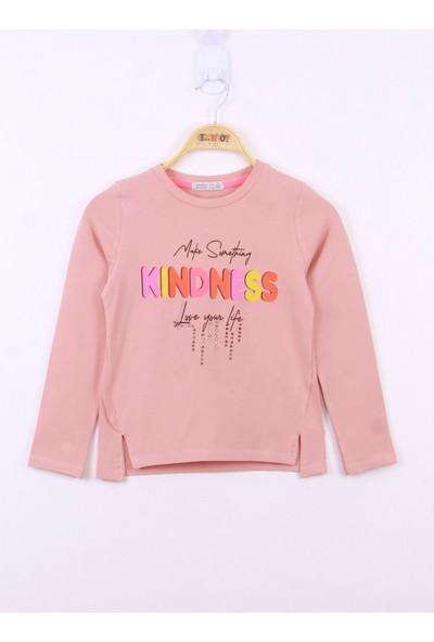 Toontoy Kız Çocuk Kindness Baskılı Tişört