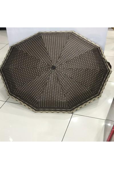 Tam Otomatik Bayan Şemsiye 10 Telli Rüzgarda Kırılmayan Çanta Boy Şemsiye Özel Fiber Telli