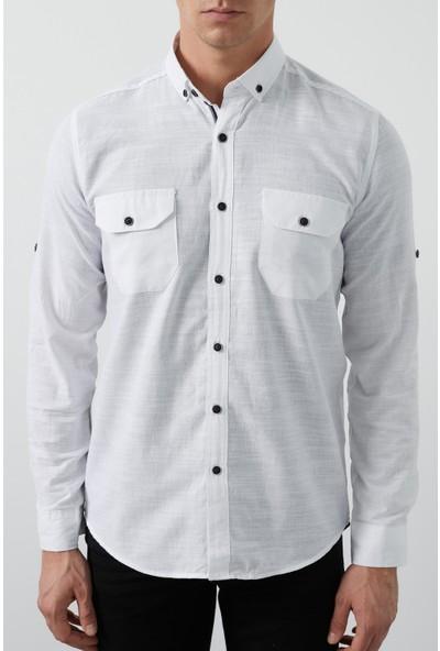 Buratti Cepli Düğmeli Yaka Erkek Gömlek Cf20S111241