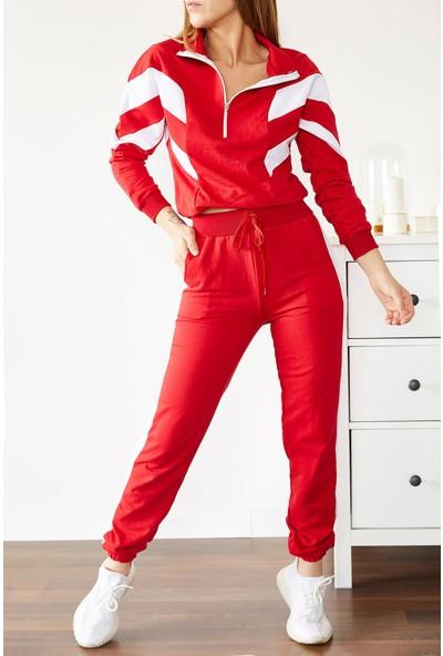 Xhan Kırmızı Fermuarlı Parçalı Eşofman Takımı 0YXK8-43757-04