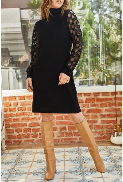 Xhan Kolu Aksesuarlı Elbise 9KXK6-42875-02