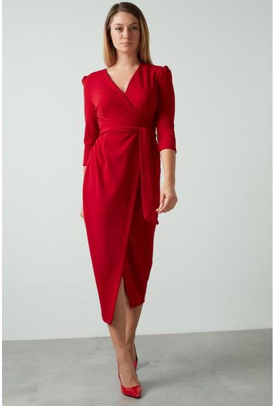 Ayhan Kuşaklı Kruvaze Kadın Elbise 04661246