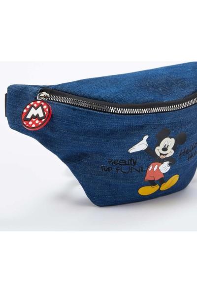 Defacto Kız Çocuk Mickey Mouse Lisanslı Bel Çantası
