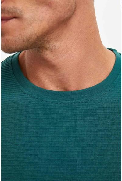Defacto Erkek Bisiklet Yaka Uzun Kollu Basic T-Shirt