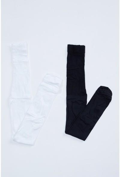 Defacto Kız Çocuk Külotlu Çorap 2'Li