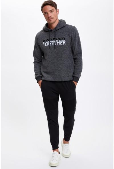 DeFacto Kapüşonlu Regular Fit Baskılı Sweatshirt S7878AZ20WN