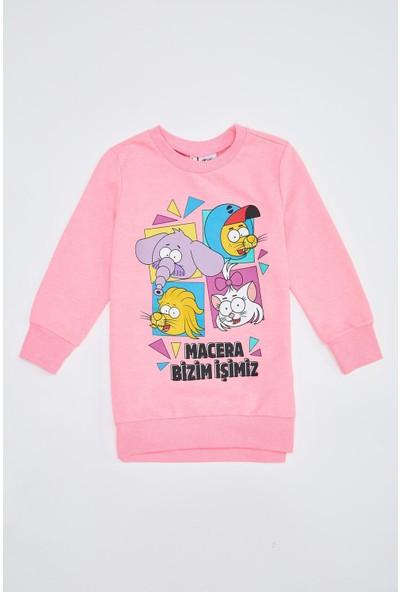 DeFacto Kız Çocuk Kral Şakir Lisanslı Sweatshirt S5731A620AU