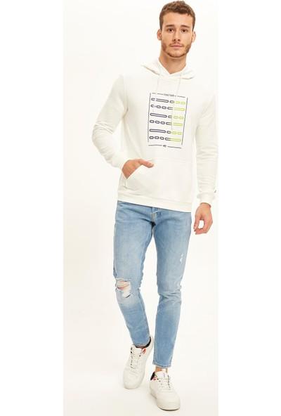 DeFacto Kapüşonlu Slim Fit Fit Spor Sweatshirt S4312AZ20AU