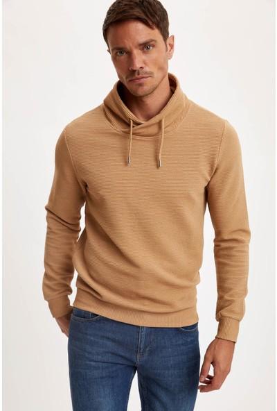 DeFacto Şal Yaka Slim Fit Basic Sweatshirt S1329AZ20AU