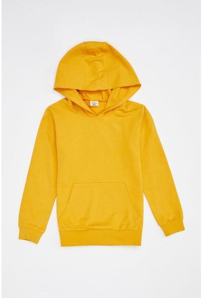 Defacto Erkek Çocuk Basic Kapüşonlu Sweatshirt