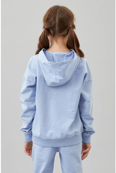 Defacto Kız Çocuk Organik Pamuk Eşofman Altı Ve Sweatshirt Takım