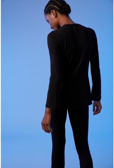 Defacto Kadın Regular Fit Uzun Kollu Basic T-Shirt