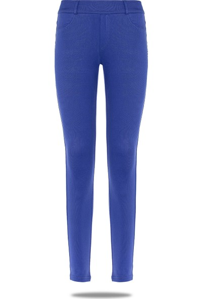 Fsm1453 Kadın Jean Pantolon Tayt Koyu Mavi M