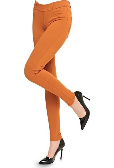 Fsm1453 Kadın Jean Pantolon Tayt Tarçın XXL