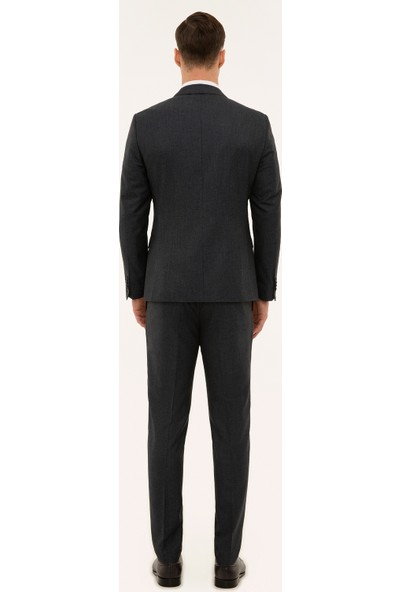 Pierre Cardin Antrasit Ekstra Slim Fit Takım Elbise 50224373-VR006