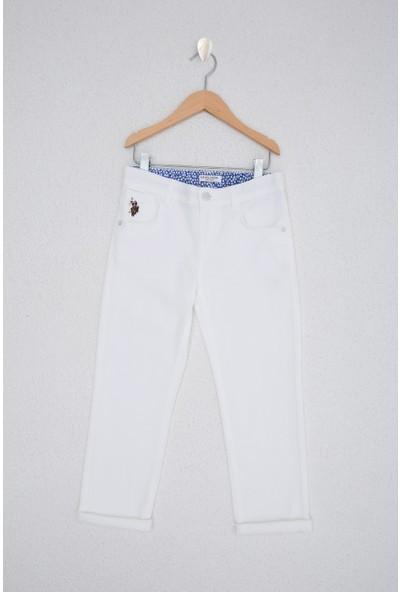 U.S. Polo Assn. Erkek Çocuk Beyaz Chinos 50218313-VR013