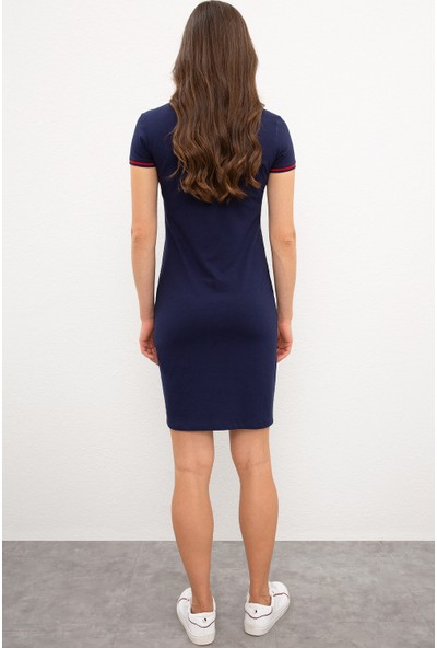 U.S. Polo Assn. Kadın Lacivert Örme Elbıse 50225509-VR033