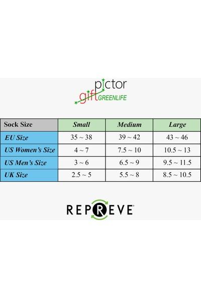 Pictor Gift Isatou Beyaz 6 Çift Recyled Spor Koşu Çorabı