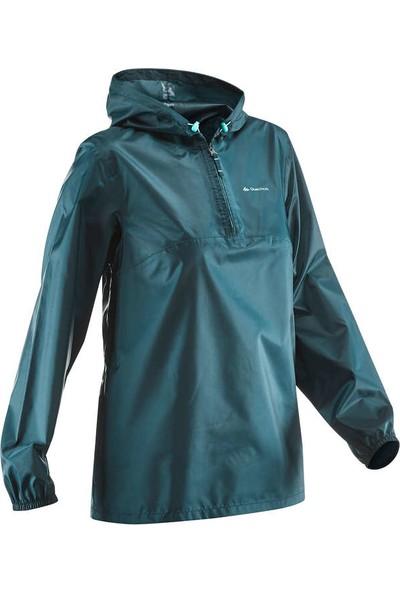 Kadın Yağmurluk - Mavi - NH100 Raıncut Quechua