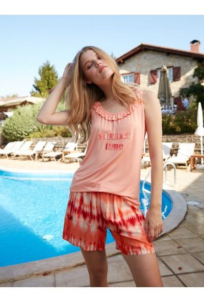 Cotbox Arianna Pijama Takımı XL Nar Çiçeği