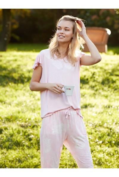 Cotbox Ikili Pembe Pijama Takım L Pembe