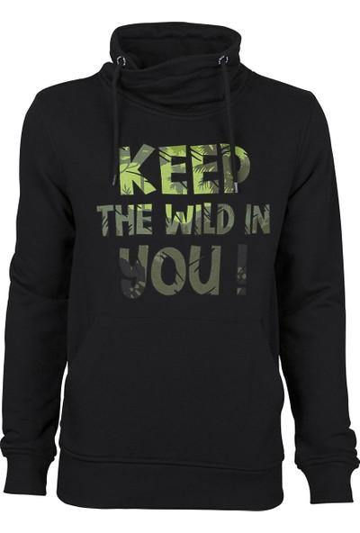 Bad Bear Keep Wild Hoodie Night Sweat Shirt