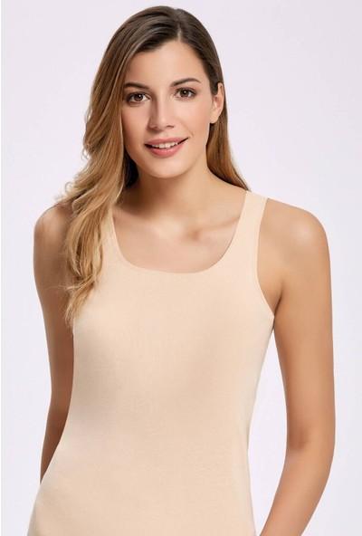 İlke İç Giyim 2202 Biyeli Geniş Askılı Kadın Atlet 10 Adet