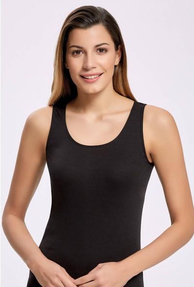 İlke İç Giyim 2202 Biyeli Geniş Askılı Kadın Atlet 5 Adet