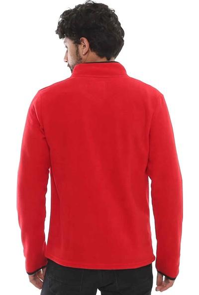 Cazador Caz 5122 Polar Sweat Hırka Kırmızı XL