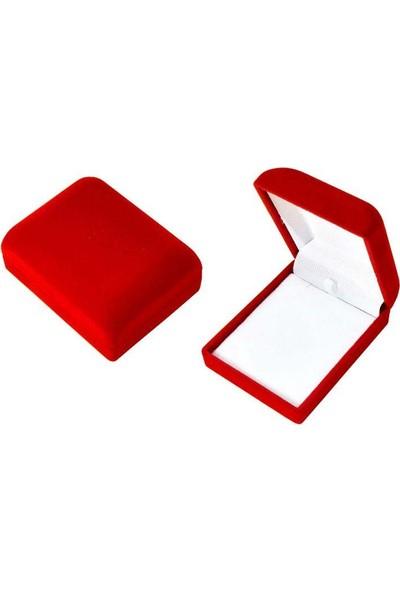 Enes Store Kırmızı Kadife Hediye Kolye Kutusu