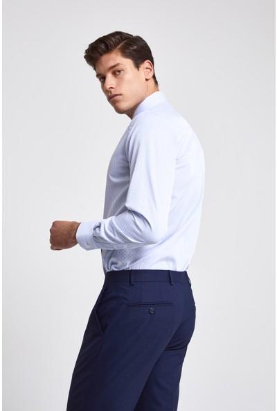 D'S Damat Slim Fit Mavi Gömlek