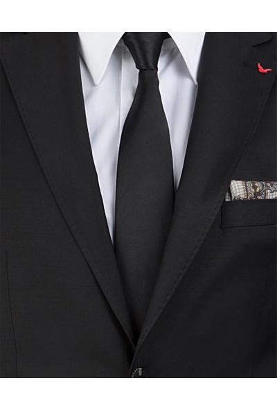 D'S Damat Regular Fit Siyah Kumaş Ceket