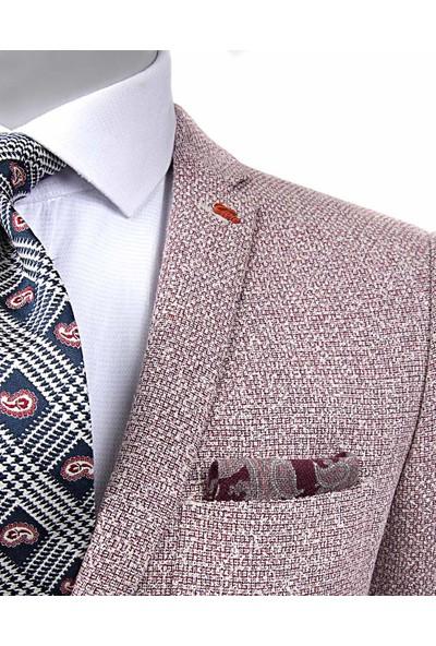 Tween Slim Fit Kırmızı Kumaş Ceket