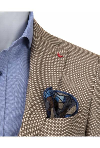 D'S Damat Regular Fit Bej Kumaş Ceket
