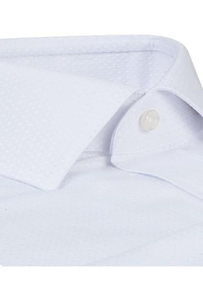 D'S Damat Regular Fit Beyaz Gömlek