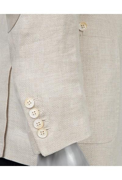 D's Damat Slim Fit Bej Kumaş Erkek Ceket