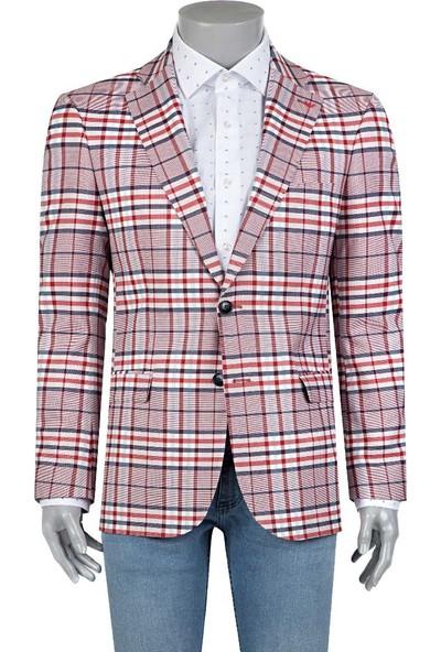 Ds Damat Slim Fit Kırmızı Kumaş Erkek Ceket
