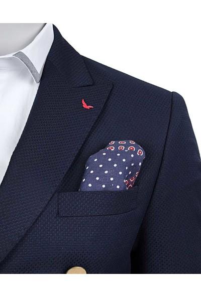 D's Damat Regular Fit Lacivert Kumaş Ceket