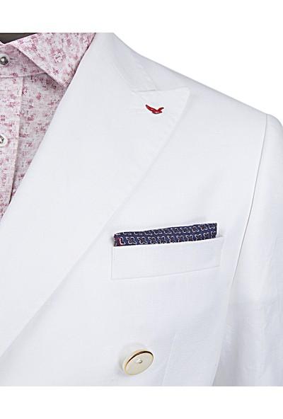 D's Damat Slim Fit Ekru Kumaş Ceket