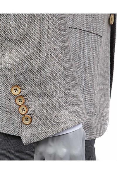 D's Damat Erkek Regular Fit Kahve Kumaş Ceket