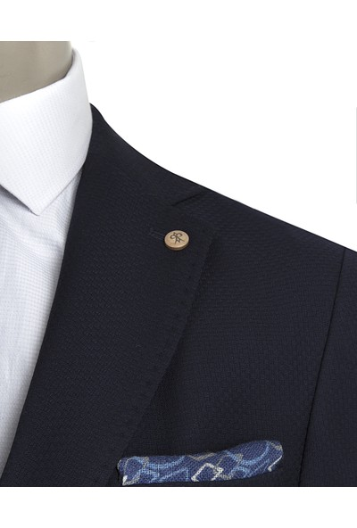 D's Damat Regular Fit Lacivert Ceket Kumaş
