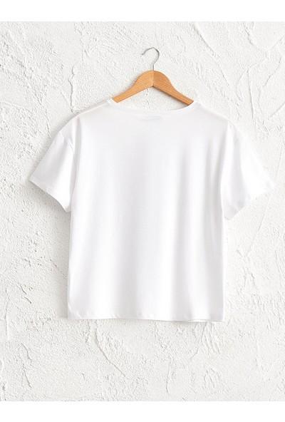 LC Waikiki Kadın U Yaka T-Shirt