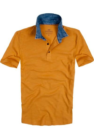 Dynamo Hardal Renk Kot Yakalı Erkek Polo Tişört