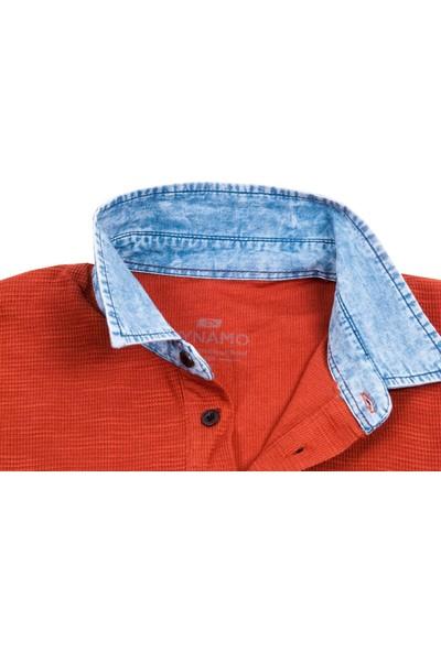 Dynamo Kiremit Renk Kot Yakalı Erkek Polo Tişört