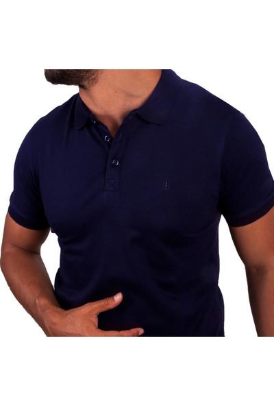 Blue Sail Lacivert Renk Polo Yaka Erkek Tişört